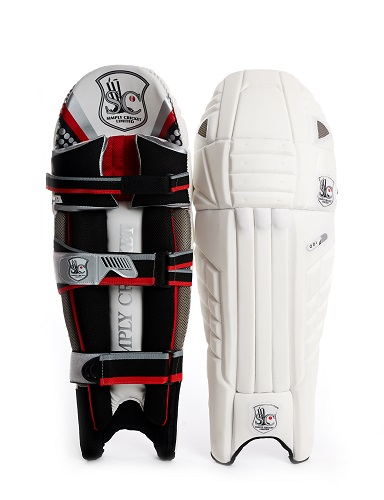 Simply Cricket ODI Pads (front and back)