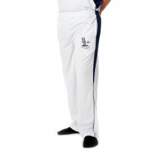 White Playing Trousers- Navy Blue Mesh - Simply Cricket